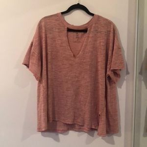 Free People - Keyhole Tee - Size S